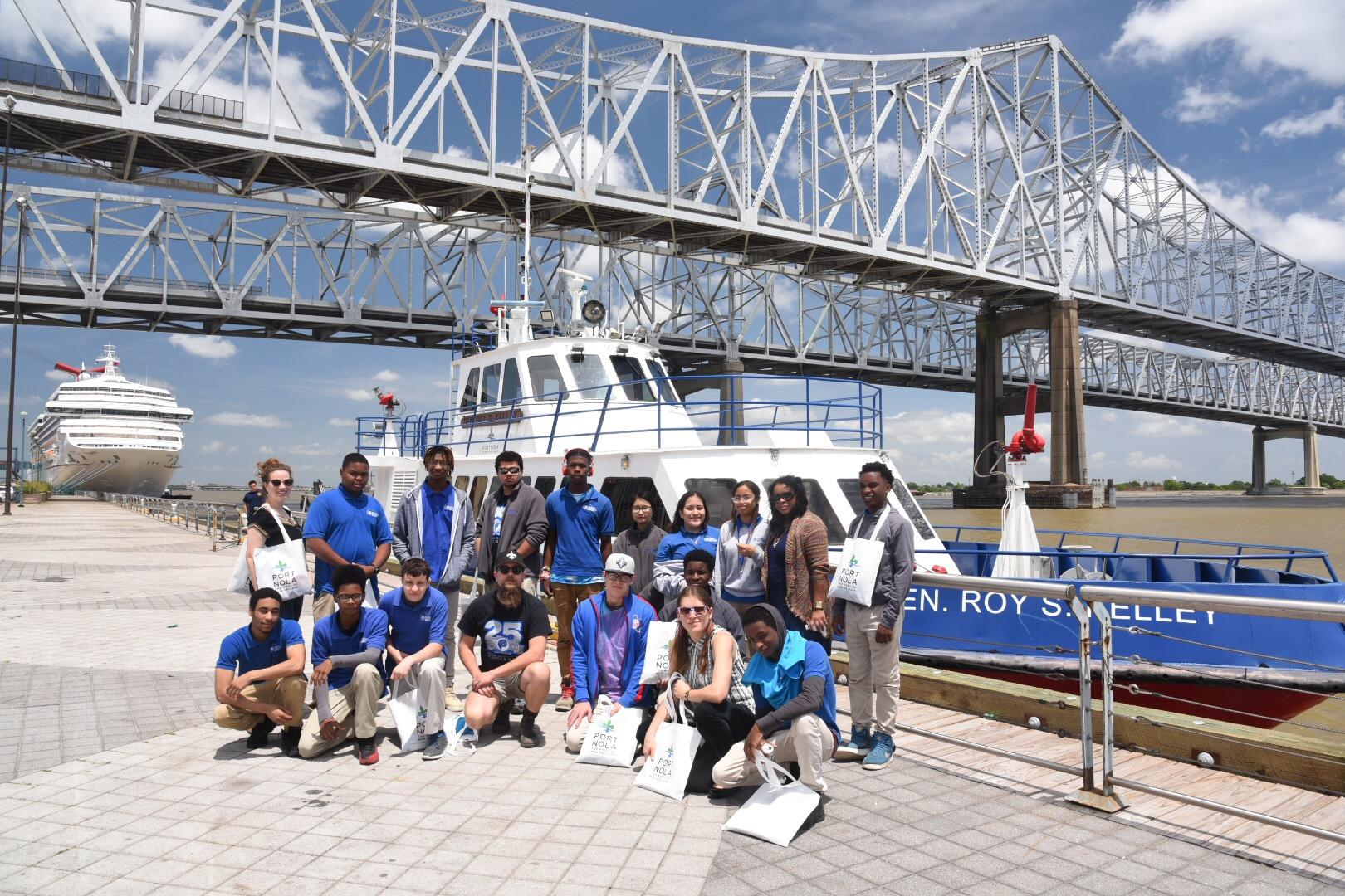 Sci-High students on the Public Boat Tour