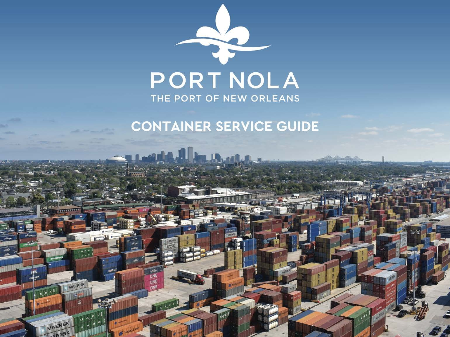 PORT NOLA 2020 CONTAINER SERVICE GUIDE Page 01