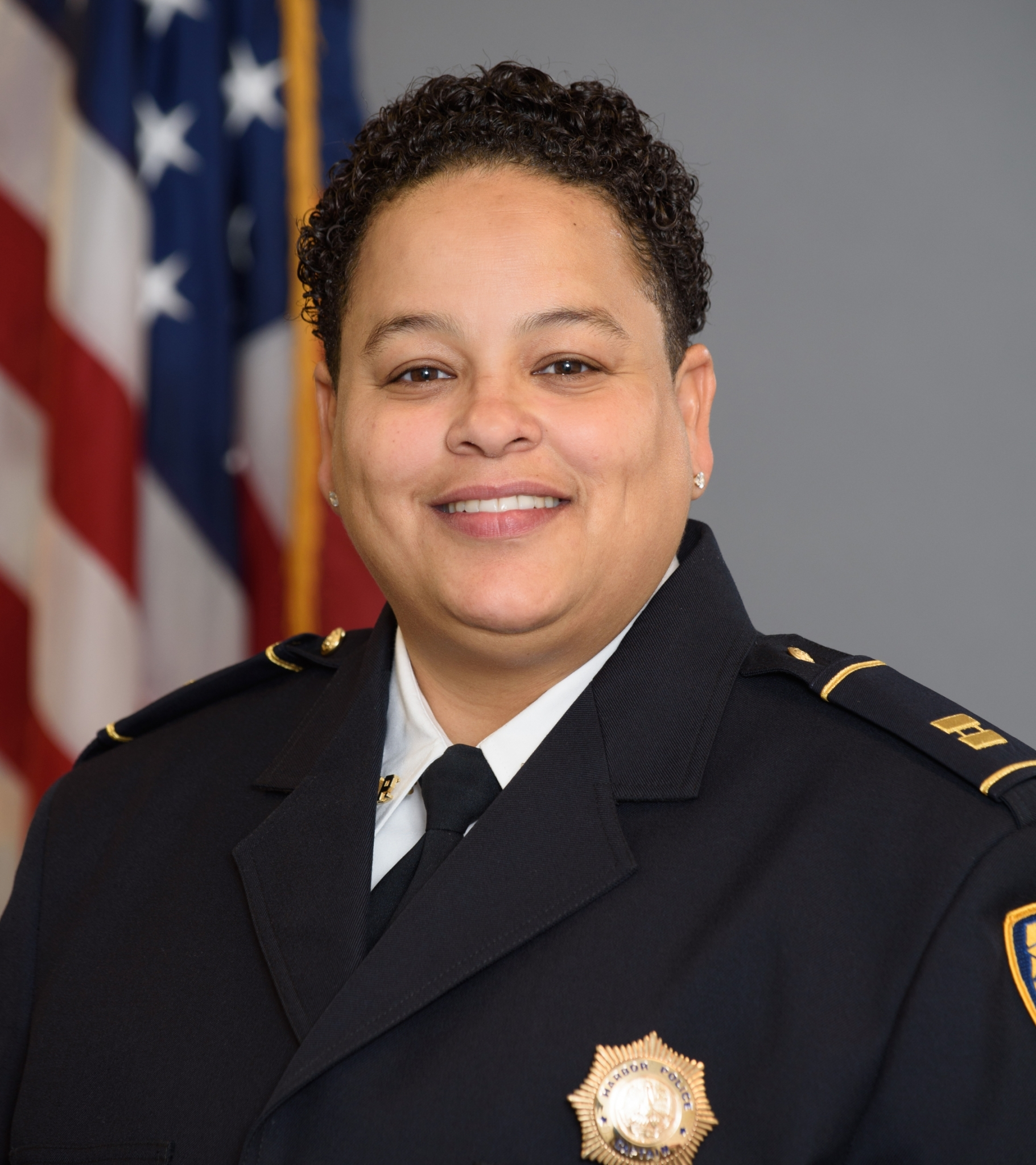 Headshot of Captain Melanie Montroll, Assistant Chief, Harbor Police Department, Port of New Orleans